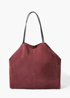 Shopper-bag aus rauleder - Taschen für Damen | MANGO