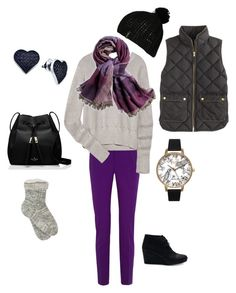 """""""Brrrrrrple"""" by fiftybutfashionable on Polyvore featuring Gucci, T By Alexander Wang, Chico's, Olivia Burton, M&Co, J.Crew, Kate Spade, BillyTheTree, Billabong and women's clothing"""