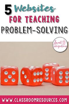 In this post, I've provided different websites that teach problem-solving and higher level thinking skills. Students will love these games.