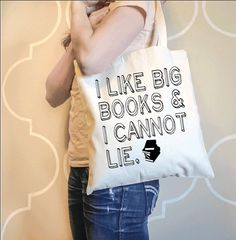 I Like Big Books and I Cannot Lie Canvas Tote Bag by AndersAttic, $15.00