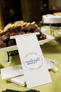 Wedding Treats | Wedding To-Go Bag | Wedding Favors | Wedding Desserts | For more luxury wedding ideas, visit burghbrides.com!