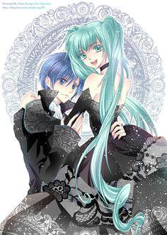 Cantarella Kaito and Hatsune Miku