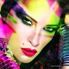 Maybelline neon makeup