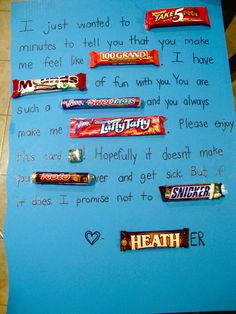 #candy card for Heather!