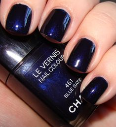 "Chanel ""Blue Satin"" Le Vernis Nail Colour"