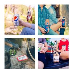 This one time on Route 66 ... we were hiking along and I kept thinking about the amazing Diet Pepsi I had in my backpack,cooler. I couldn't wait anymore so I had to take a break! The my friend sat ...