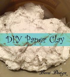 Easy, inexpensive recipe and directions on how to make your own paper clay for paper mache and other projects using toilet tissue paper. Projects paper How To Make Your Own Paper Clay Paper Mache Paste, Paper Mache Clay, Paper Mache Sculpture, Clay Sculptures, Paper Mache Pumpkin, Paper Mache Flowers, Paper Mache Projects, Craft Projects, Fall Projects