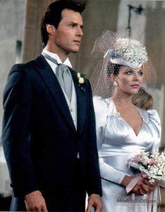 Dynasty - Season 5 publicity still of Joan Collins & Michael Nader Royal Brides, Royal Weddings, Wedding Movies, Wedding Day, V Drama, Tvs, Dynasty Tv Show, 1980s Wedding, Der Denver Clan