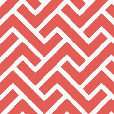 Cloud 9 House Designer - GeoCentric Canvas - ZigZag in Coral