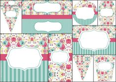 Special Shabby Chic for Sweet 16 for Sweet 16: Free Printable Mini Kit.