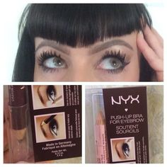 Used NYX PushUp Bra for Brows today for first time! Color is good, not red or brassy. The application is pretty sheer so you can still see your brow hairs. The highlighter is cool for cleaning up the edges &adding glow to the brow bone. I'd use this for a