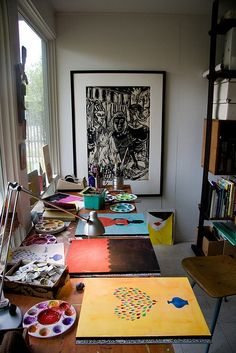 A cozy art work space.