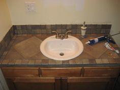 bathroom vanity countertop ideas countertops bathroom vanity tile countertop my projects pinterest