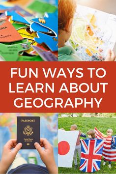 Fun geography activities and ideas for kids. Ditch the flash cards and boring quizzes. Teach kids about the world with these fun ways for kids to learn geography including games, puzzles, books food! Geography Games For Kids, World Geography Games, Geography Activities, Geography Lessons, Social Studies Activities, Kids Learning Activities, Kindergarten Activities, Science Activities, Teaching Kids