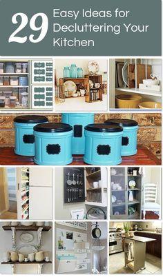 29 easy ways to declutter your kitchen ~ http://www.hometalk.com/l/Bsg