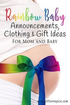 Rainbow Baby Announcement Cards, Maternity & Baby Photo Props, Baby Shower Invitations, Baby Clothing, Maternity Shirts And Gift Ideas For Mom And Baby