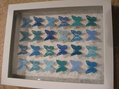 Butterfly shadow box using paint chips!
