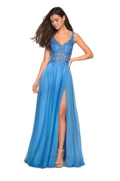 La Femme designer prom dresses are the go to look for every formal and social occasion. Shop a La Femme dress for style, color, and design. Your dream dress is just a click away when shopping La F. Blue Lace Prom Dress, Mermaid Prom Dresses Lace, Prom Dresses Blue, Formal Evening Dresses, Lace Dress, Prom Gowns, Winter Dresses, Bridesmaid Dresses, Gown With Slit