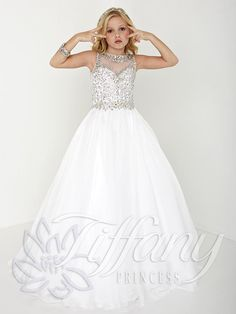 Tiffany Princess Pageant Dress Style 13426                                                                                                                                                      More