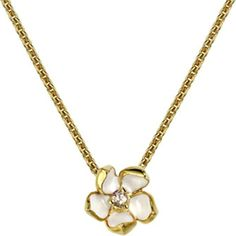 Shaun Leane Sterling silver gold vermeil cherry blossom necklace size... ($320) ❤ liked on Polyvore featuring jewelry, necklaces, ivory necklace, cherry blossom necklace, vermeil jewelry, sterling silver jewelry and flower necklace