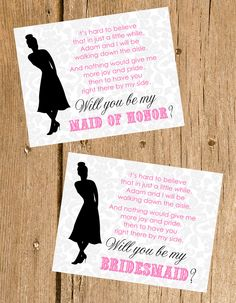 Will You Be My Bridesmaid Card.