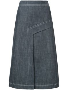 Find amazing denim skirts for women at Farfetch. Explore top jean skirts and designer denim skirts from hundreds of exclusive boutiques. Blouse And Skirt, Dress Skirt, Waist Skirt, A Line Denim Skirt, Denim Skirts, Skirt Outfits, Models, Womens Fashion, Sewing