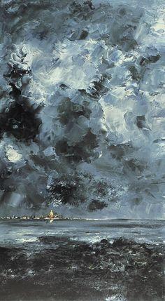 August Strindberg, 1849-1912. Staden. Hägring Oil on canvas, Nationalmuseum, Stockholm, Sweden. August Strindberg (1849-1912)