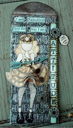 CREATIVITY IS CONTAGIOUS: COMPENDIUM OF CURIOSITIES CHALLENGE III ~ PAINTED INDUSTRIAL PAPER DOLL