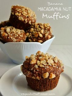 Perfect for busy mornings on the go, these Banana Macadamia Nut Muffins are packed with delicious flavors your kids will love.