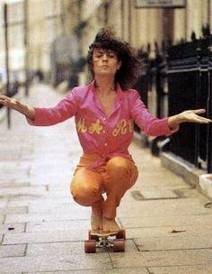 Marc Bolan skating