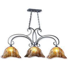 Uttermost Vetraio 3 Light Bronze Kitchen Island Light 21009