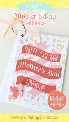 Perfect Mother's Day gift! Let MOM choose how the day will go!