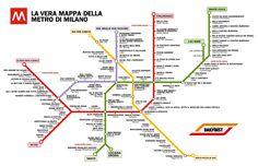 La vera mappa della METRO di Milano