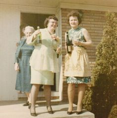 Back in the 1960's--my mother, Aunt & Grandmother having some fun during a family get together.