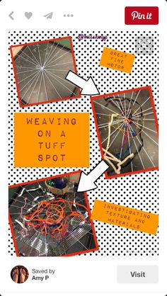 """Found this on Pintrest, great Autumn fine motor activity """"Always good to find something different to do with a Tuff Spot. Great for motor skills and also talking about textures and materials."""