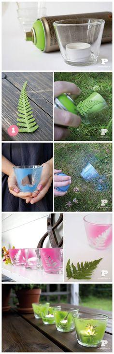 joybobo: Spray paint tealight holders