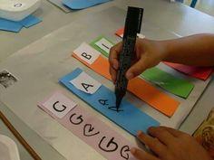 Letter practice! We have backward letter syndrome.