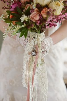 gorgeous Victorian inspired bouquet