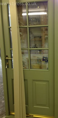 Final Stages of Colour in our workshop. External door, painted door Farrow & Ball paint, RAL colours, entrance door