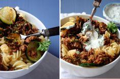 Sommer auf dem Teller {Türkische Pasta mit Hackfleisch und Joghurt-Sauce} - Kochkarussell
