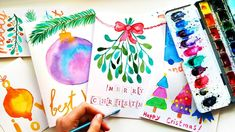 DIY Watercolor Christmas Cards Painting Ideas - Easy Xmas Crafts To Sell 2019 DIY Xmas cards with colorful trees, christmas ornaments, snowmen and more! Xmas Crafts To Sell, Christmas Cards To Make, Xmas Cards, Holiday Cards, Christmas Ornaments, Handmade Greetings, Greeting Cards Handmade, Watercolor Christmas Cards, Colorful Trees
