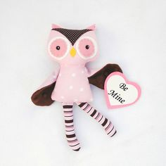 Owlisha the mini owl by SquishyBee on Etsy, $25.00