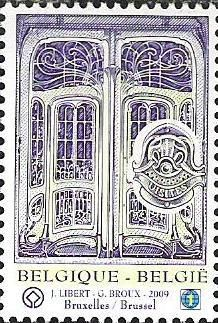 belgian stamps UNESCO- World Patrimonium : Belgium.Victor Horta Houses