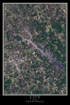 Greenwood South Carolina Satellite Poster Map