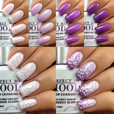 OMG!!! I want sum.  LeChat Lavender Blooms; Mood Color Changing Gel Polish