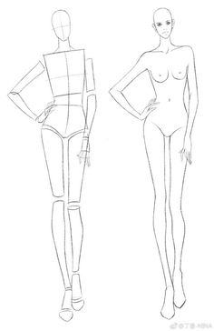 Female Figure Template for Fashion Illustration head/ 47 poses)Fashion Figure Pose Template ~ Set These templates can be printed out and used for hand drawn flats using tracing paper Fashion Drawing Tutorial, Fashion Figure Drawing, Fashion Model Drawing, Fashion Illustration Poses, Fashion Illustration Template, Illustration Mode, Design Illustrations, Fashion Design Sketchbook, Fashion Design Drawings