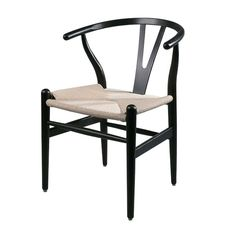 Skandinavischer Stuhl Klassiker In Schwarz/Natur, Vintage Charme, Hygge  Stil Für Esstisch, Büro Und Restaurants Günstig Bei Fabrikschick.de