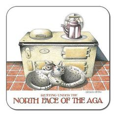 Simon Drew 'North Face of the AGA' coaster