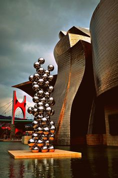 The Guggenheim Museum - Bilbao, Spain. A museum of modern and contemporary art, designed by Canadian - American architect Frank Gehry, and located in Bilbao, Basque Country, Spain. The museum was inaugurated on October 18,1997.