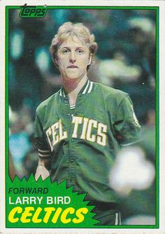 1981 - 1982 Topps Larry Bird Boston Celtics Basketball Card for sale online Celtics Basketball, Basketball Players, Basketball Jones, Larry Bird, Basketball Pictures, Basketball Cards, Nba Pictures, Basketball Stuff, Boston Celtics